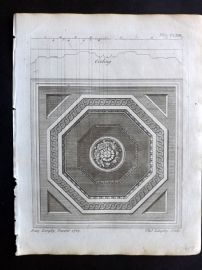 Langley 1777 Antique Architectural Print. Ceiling 169